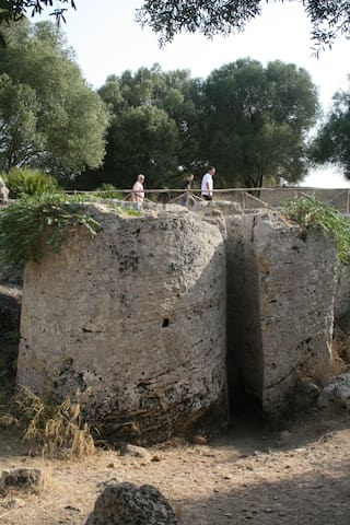 La zona archeologica delle Cave di Cusa: si raggiunge con autovettura, in meno di 10' da casa mia.