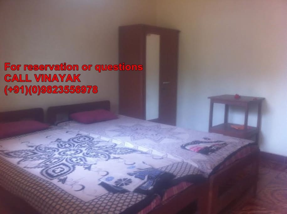 Double Bed Room in Green Leaf House Goa Calangute