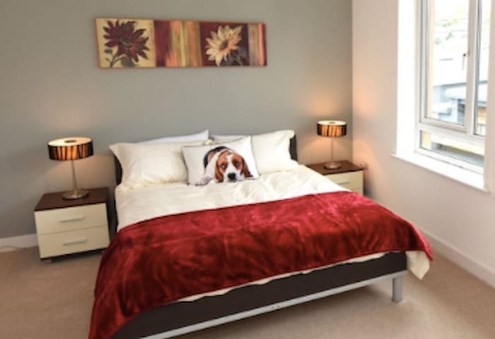 Double bedroom with a private bathroom in Cork