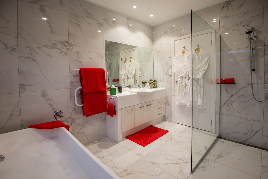 Private bathroom with walk-in shower