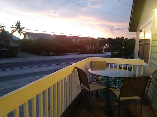 Sunrise from front upstairs porch
