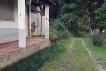 caminho para a chegada à hospedaria da fábrica