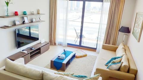 ⭐️Opposite CityCenter⭐️Pool⭐️Wifi ⭐️1BR+Sofa Bed⭐️