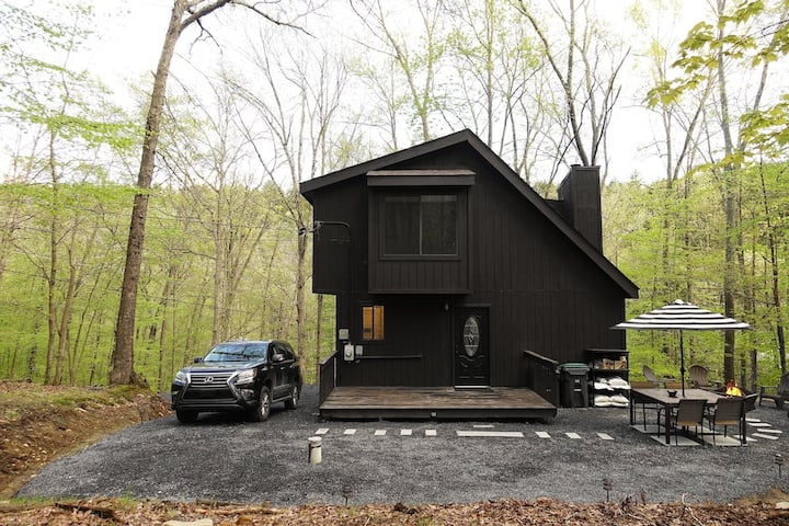 BLVCK Cabin in the Mountains near Bushkill Falls