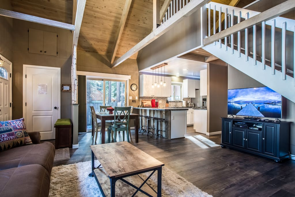 Charm throughout this home from the stylishly updated kitchen, cozy living room with HDTV, up to the loft level game room