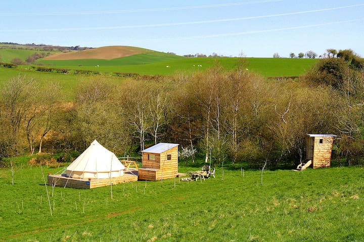 Arenig - Luxury bell tent on an Iron Age hill fort
