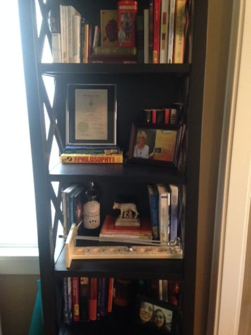 Bookshelf.  Feel free to cozy up with one of my many philosophy books.