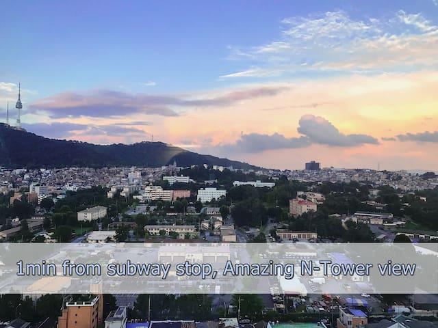中文咨询 【1min to Subway】 INCREDIBLE N-Tower view