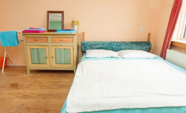 Clean, friendly room - near center!