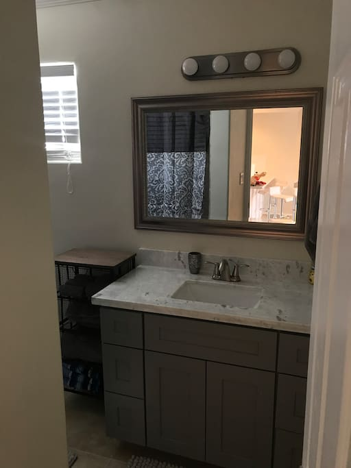 New Vanity and cabinets throughout the Condo.