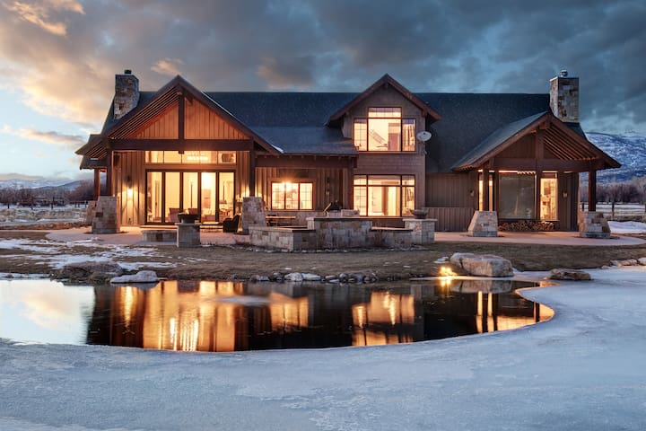 Amazing home situated on an awesome estate!One of a kind ski home!Twilight Ranch - Peoa - Maison