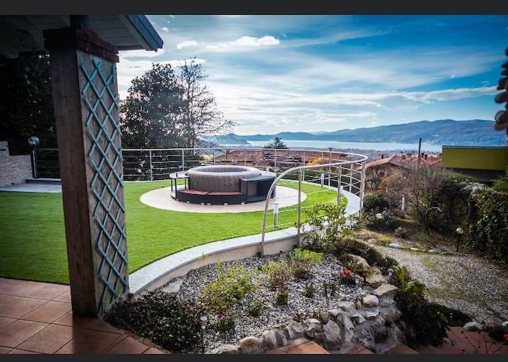 Beb Villa Buzzi sul lago Maggiore - Camera blu