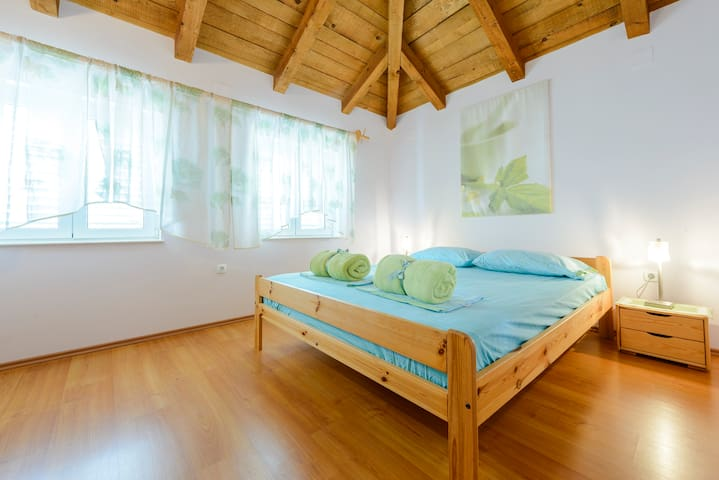 Main bedroom equipped with double bed
