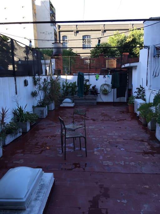 terraza y lavadero