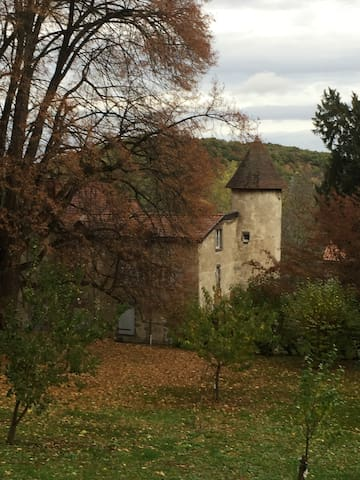 BEAUTIFUL GITE IN RESIDENCE 17TH CENTURY - Volvic - Byt