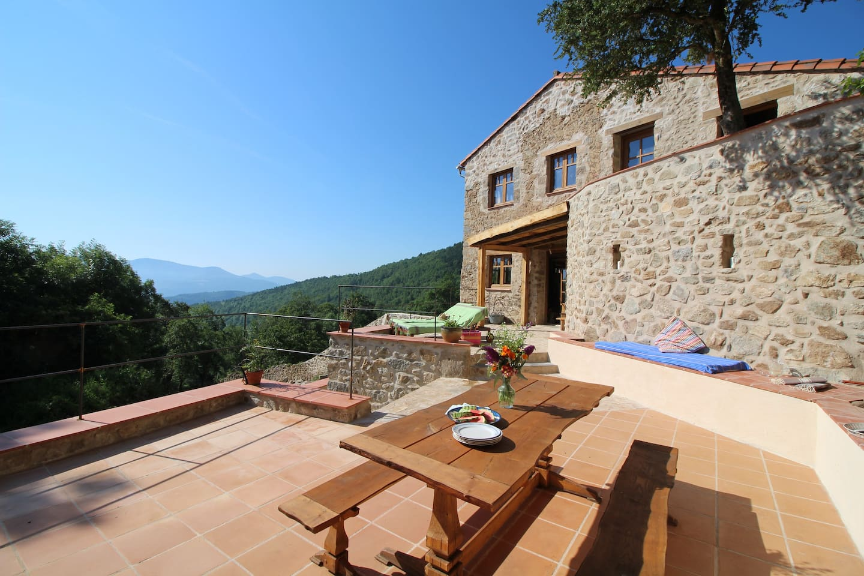 Gite Canigou terrace @ La Taillede