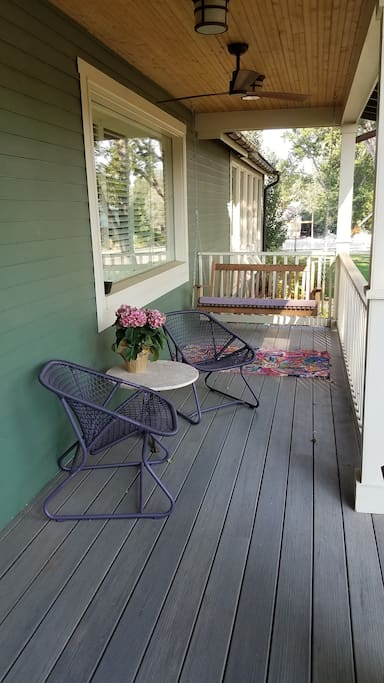Enjoy the front porch and swing.