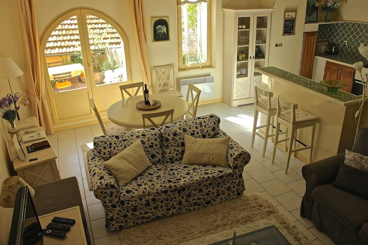 One-level apartment with terrace - historic centre - Pézenas - Lejlighed