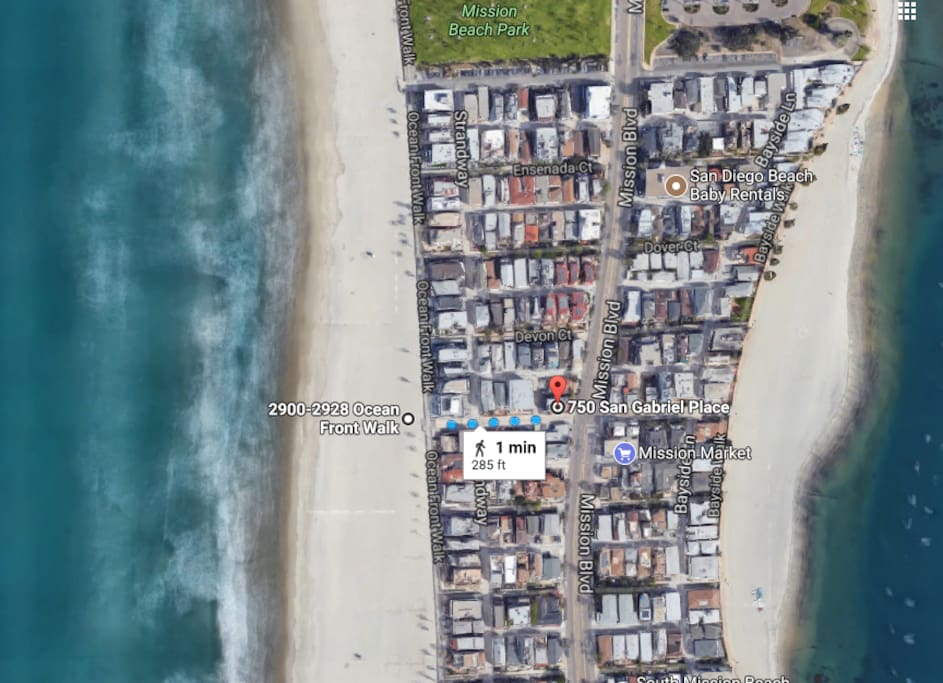 LOCATION! 1 minute walk from beach rental to the ocean front and boardwalk. Bayside with calmer waters is to the east side