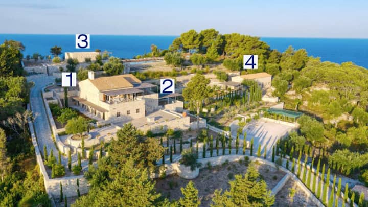 Architectural villa with 360 views and pool