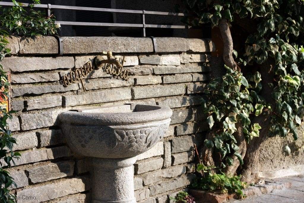the quaint fountain just on the property corner