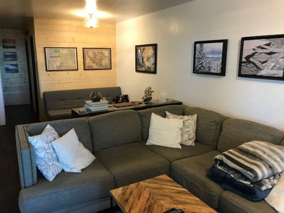 Living area with large sectional
