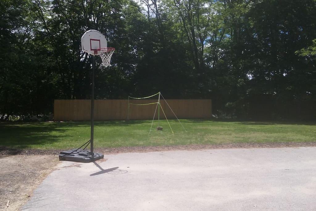 basketball hoop on property