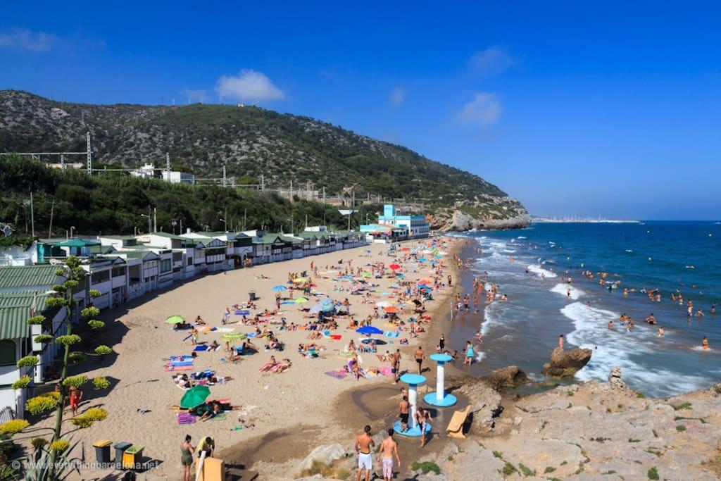 Garraf beach is one of the best beaches in Barcelona!