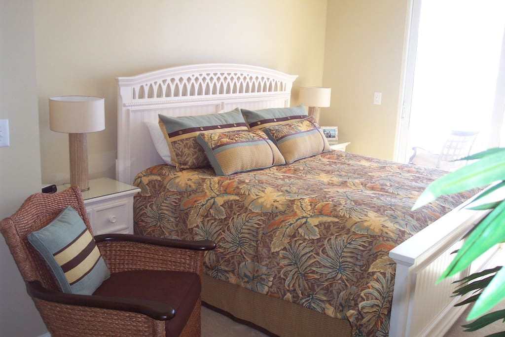 Master bedroom opening to Gulf of Mexico