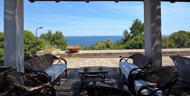 Meravigliosa villa con giardino e accesso al mare