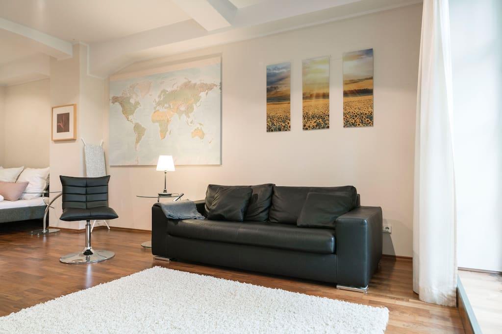 exklusiver fabrik loft wohnung lofts zur miete in d sseldorf nordrhein westfalen deutschland. Black Bedroom Furniture Sets. Home Design Ideas