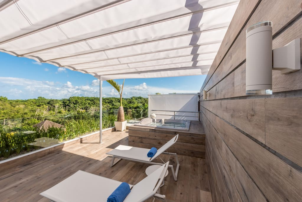 Relax to the gentle lull of the ocean waves from the luxury of your private terrace.