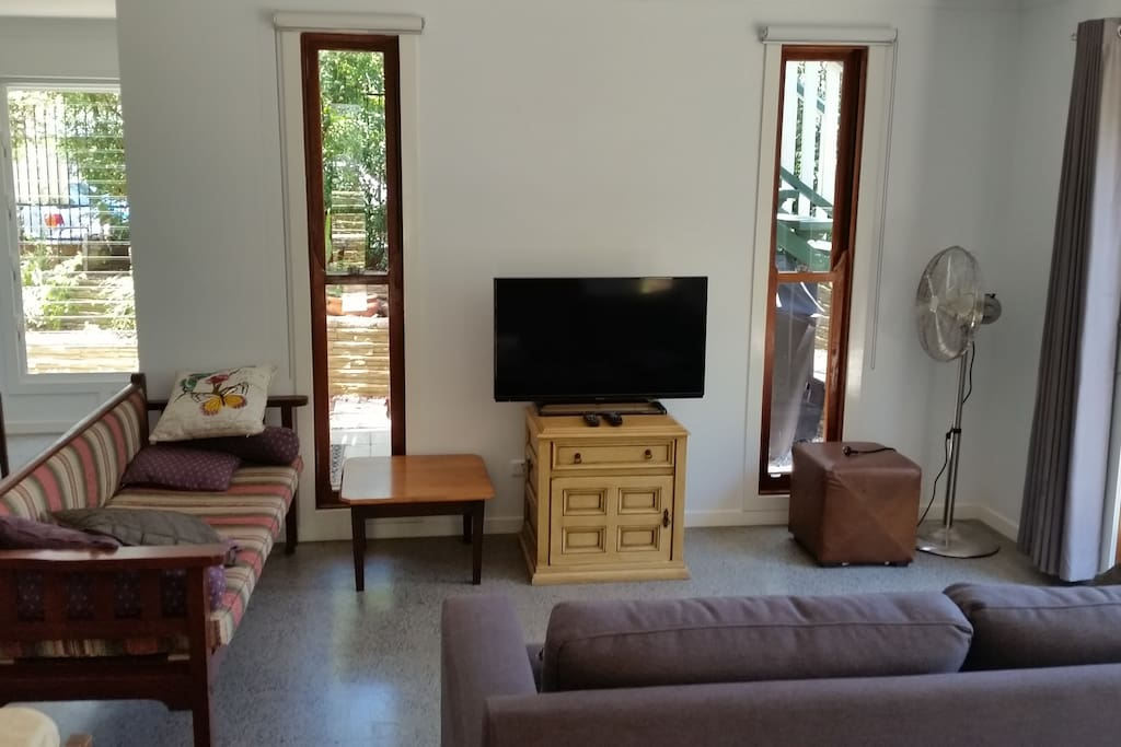 Living area with Foxtel TV