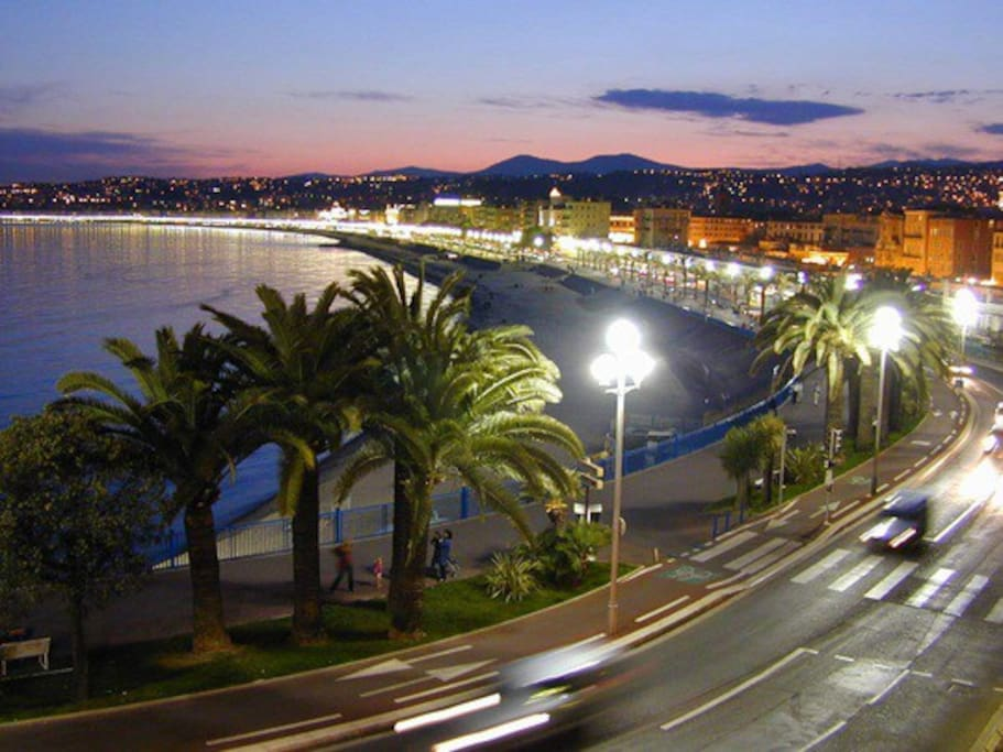 """""""Baie des Anges"""" by night"""