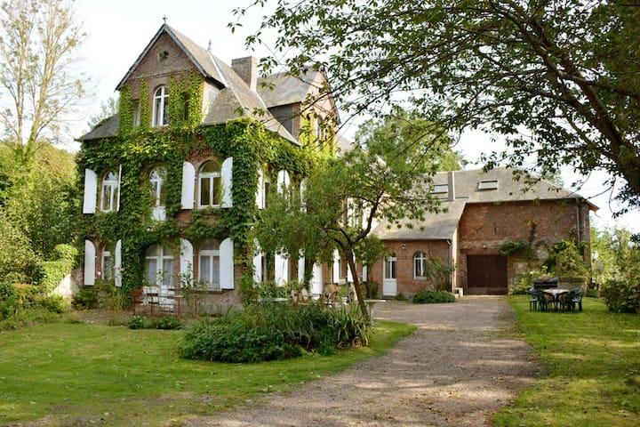 Le Manoir rivière et moulin - Les Authieux-sur-Calonne - Ev