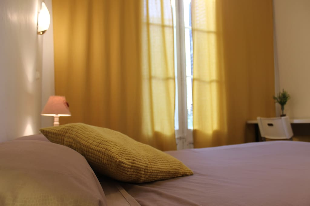 Large sunny double room with private balcony