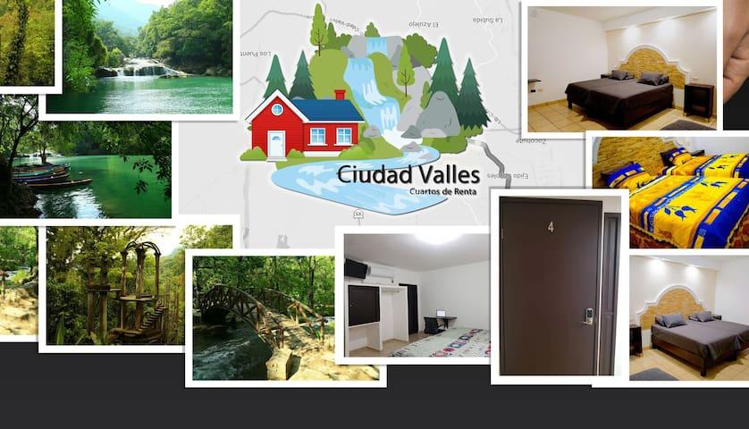¡Habitaciones tipo hotel Valles Huasteca Potosina!