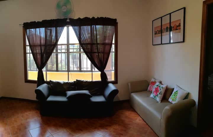 Entire house with 2 bedrooms for short stay.
