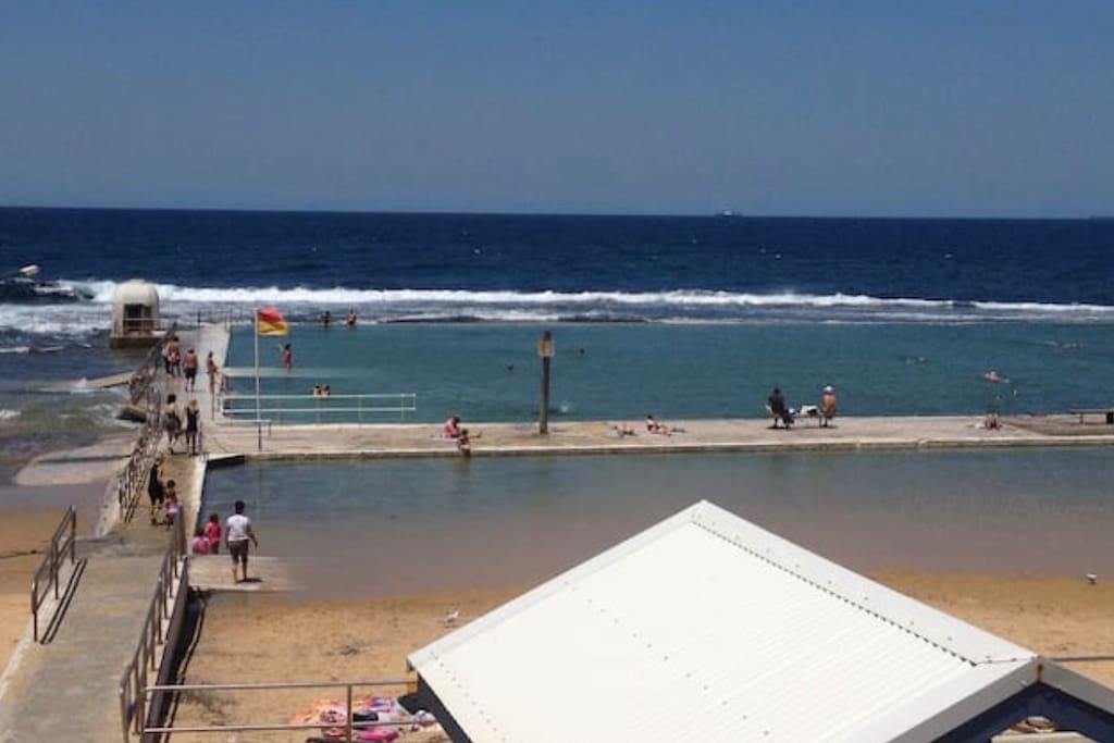 Merewether baths. Approx 500m away