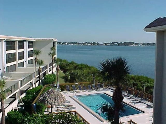 Manasota Beach Condo with view of Lemon Bay