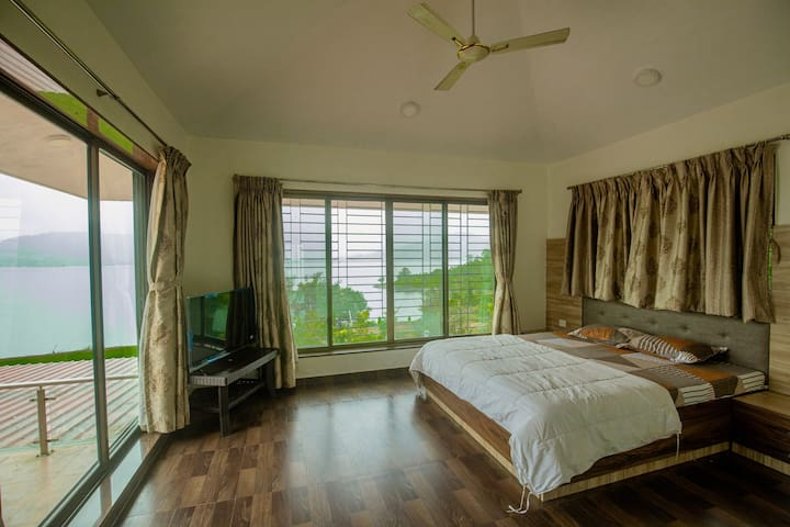 MAGNIFICENT VIEW OF LAKE FROM MASTER BEDROOM