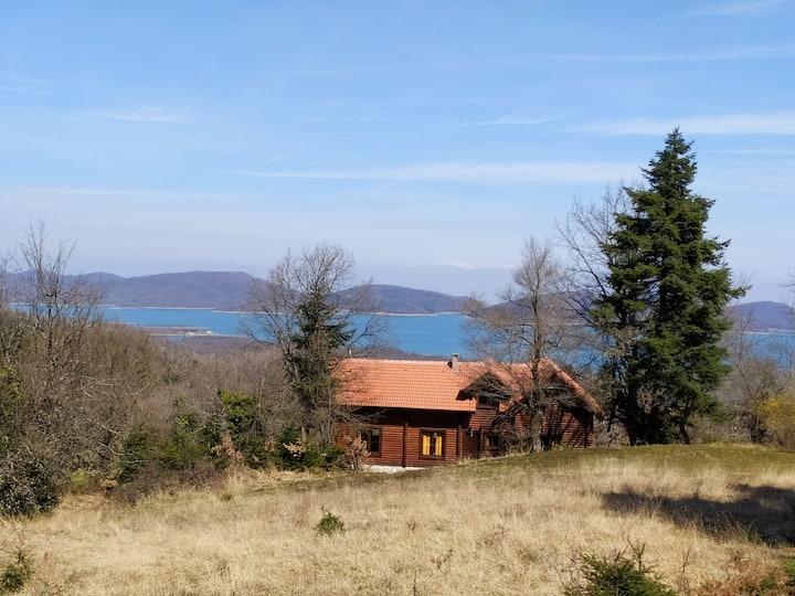 Adelos  Plastira Lake Cottage House