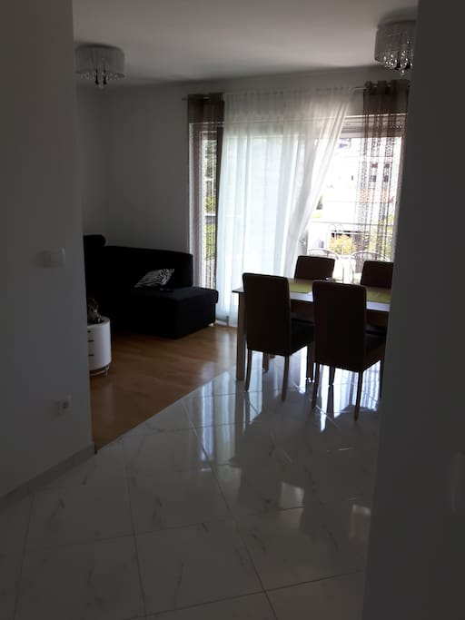 Tarace is accessible from living room and kitchen.