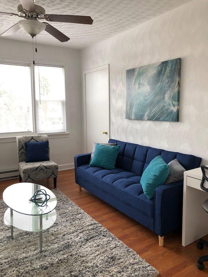 2BR VA Blue Apartment Near Downtown Norfolk