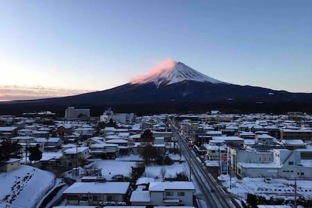 Kawaguchiko station fantastic view of Mt. Fuji!
