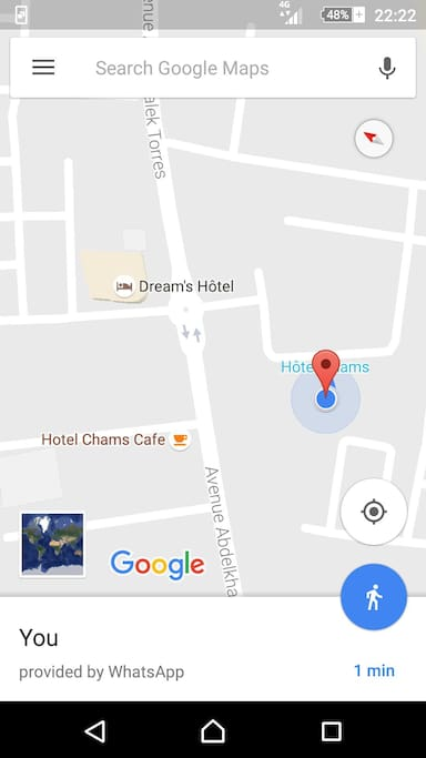 the localisation on Google Maps