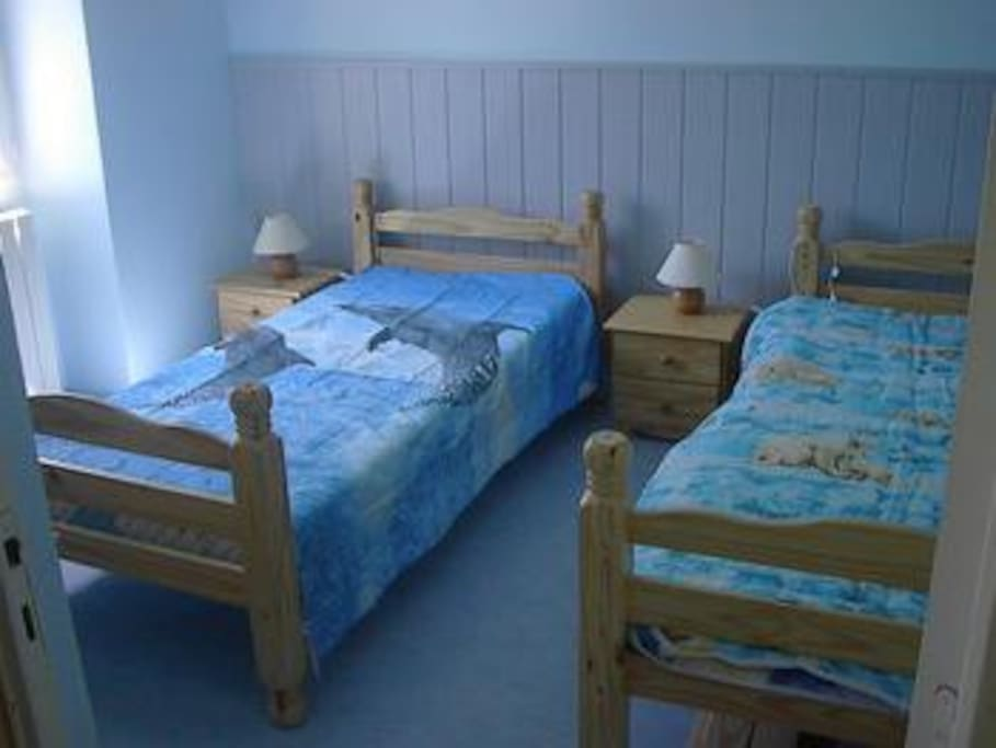 chambre 2 lits de 1 personne