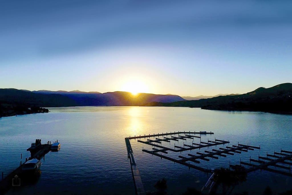 Lake Chelan views from the marina are magical
