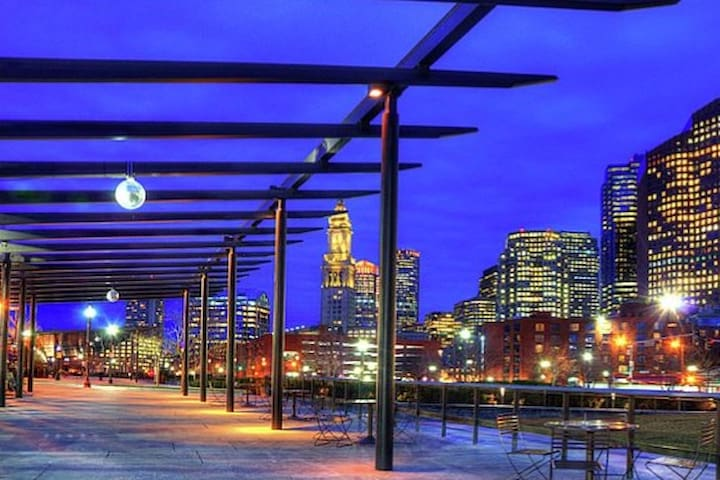 Just steps from your door, the Rose Kennedy Greenway