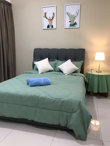 Ground floor queen bed.